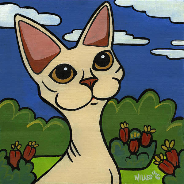 Cat Poster featuring the painting Devon Rex by Leanne Wilkes