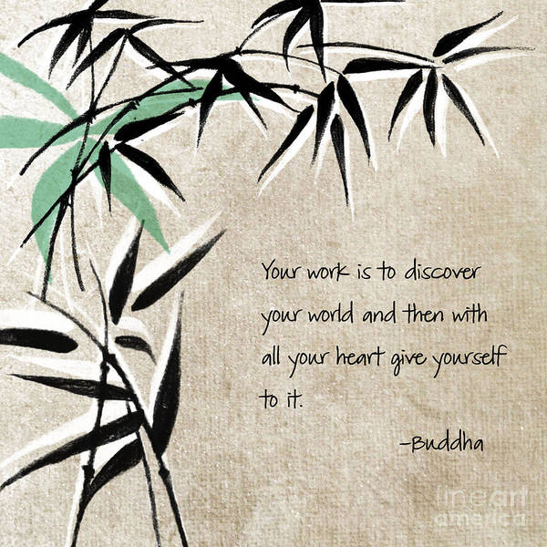 Zen Poster featuring the mixed media Discover Your World by Linda Woods