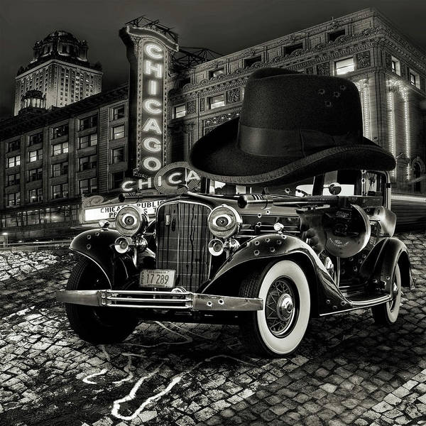 American Poster featuring the digital art Don Cadillacchio Black And White by Marian Voicu