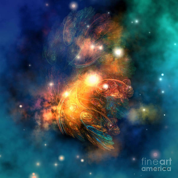 Dragon Poster featuring the painting Draconian Nebula by Corey Ford