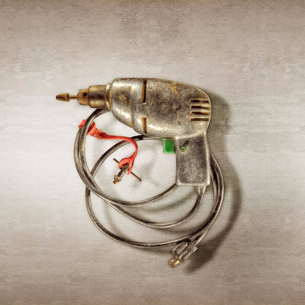 Antique Poster featuring the photograph Drill Motor, Green Trigger by YoPedro