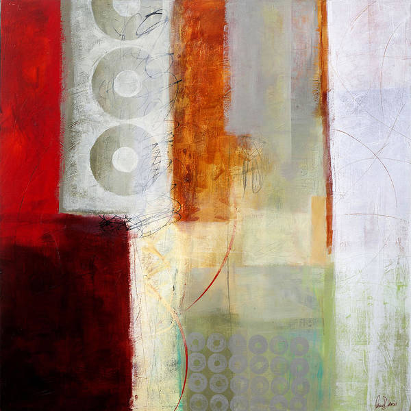 Abstract Art Poster featuring the painting Edge Location 12 by Jane Davies