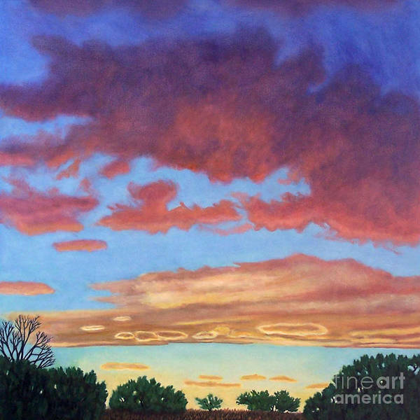 Sunset Poster featuring the painting El Dorado Sunset by Brian Commerford
