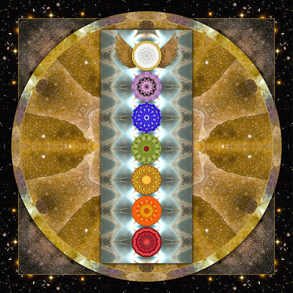 Chakras Poster featuring the photograph Evolving Light by Bell And Todd