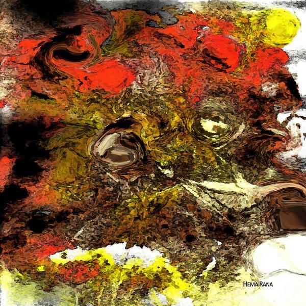 Digital Art Poster featuring the digital art Exotic Creature by Hema Rana
