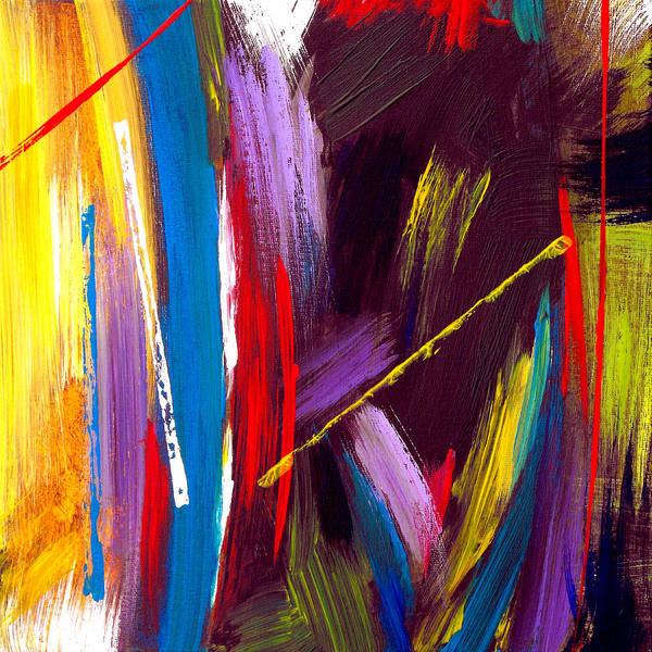Abstract Poster featuring the painting Express Yourself by Ruth Palmer