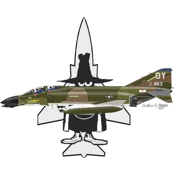 F 4d Phantom Ii Spook Poster By Arthur Eggers