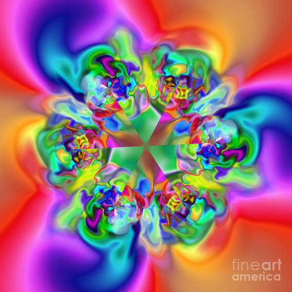 Abstract Poster featuring the digital art Flexibility 17c by Rolf Bertram