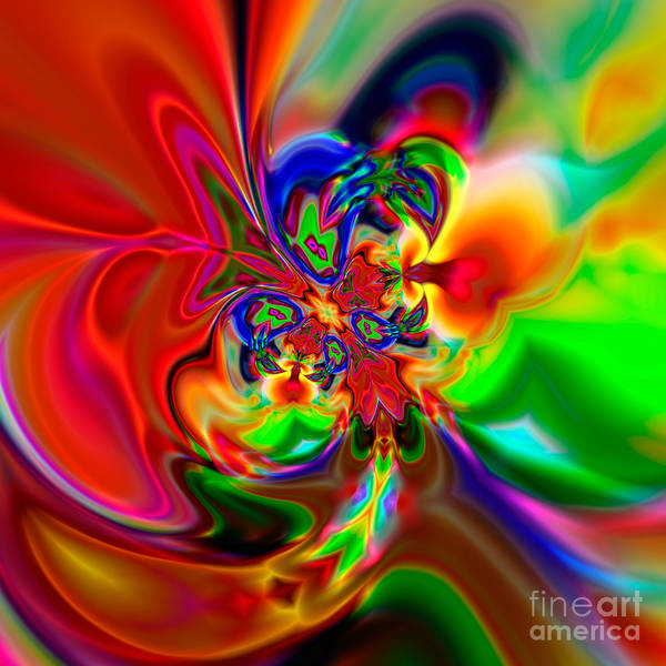 Abstract Poster featuring the digital art Flexibility 49ea by Rolf Bertram