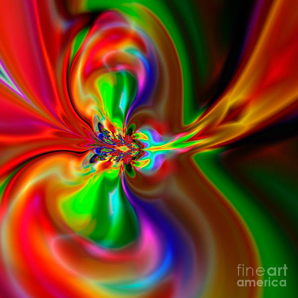 Abstract Poster featuring the digital art Flexibility 49fa by Rolf Bertram