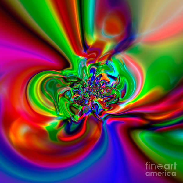 Abstract Poster featuring the digital art Flexibility 49h by Rolf Bertram