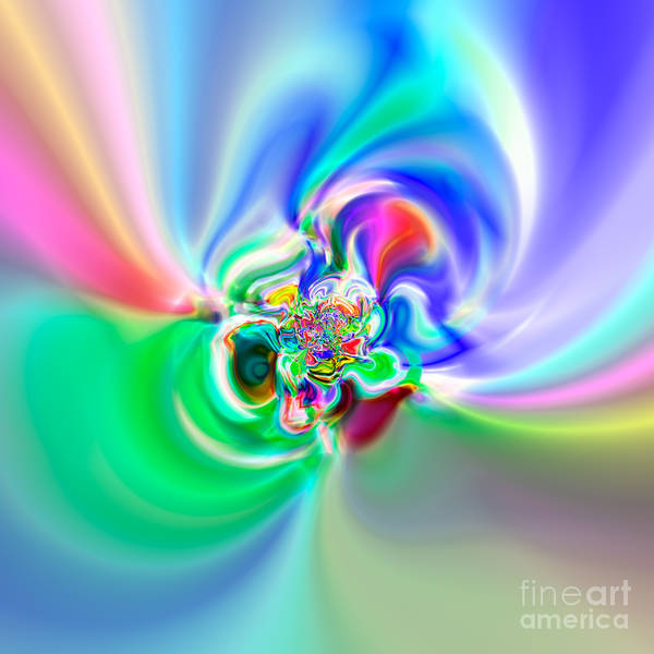 Abstract Poster featuring the digital art Flexibility 51a by Rolf Bertram
