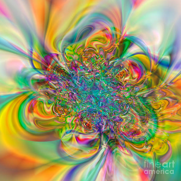 Abstract Poster featuring the digital art Flexibility 57abc by Rolf Bertram