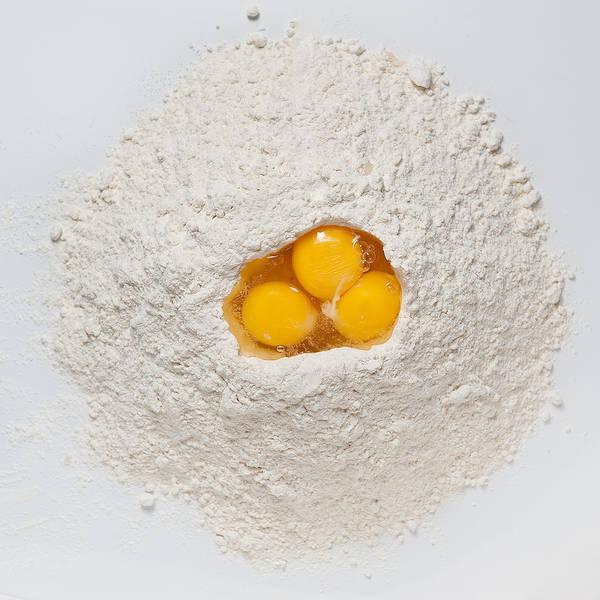 Flour Poster featuring the photograph Flour And Eggs by Steve Gadomski