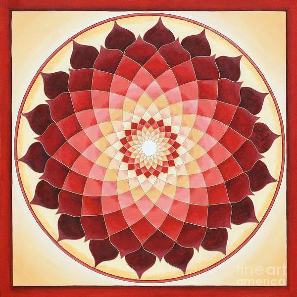 Mandala Poster featuring the painting Flower Of Life by Charlotte Backman