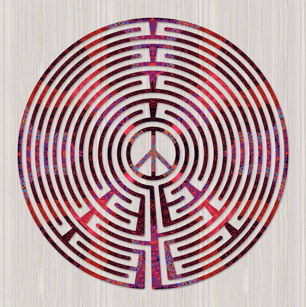 Peace Poster featuring the digital art Fnding Here And Now by Fine Art Labyrinths