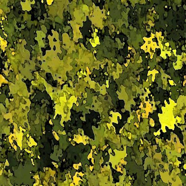 Foliage Poster featuring the digital art Foliage by Hema Rana