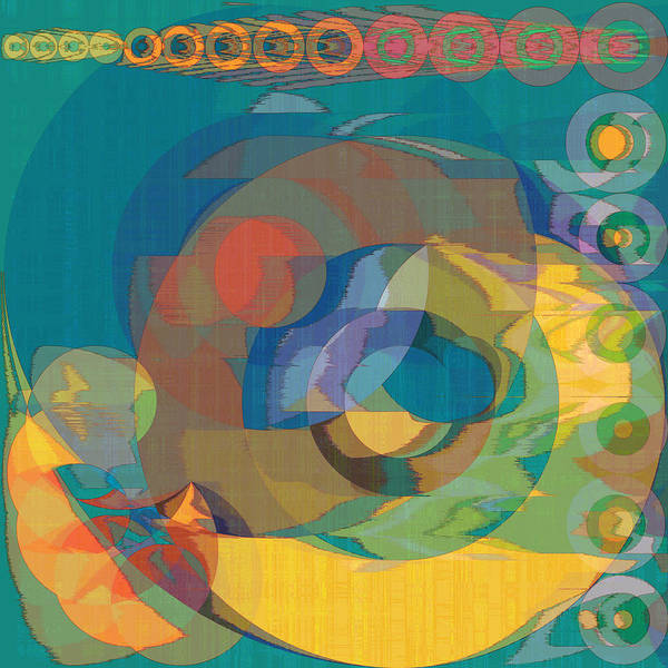 Abstract Poster featuring the digital art Follow The Sun by Gae Helton