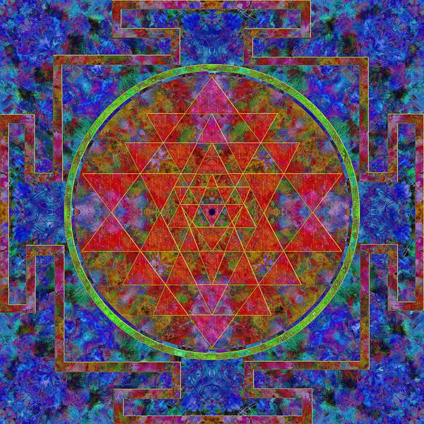Mandala Poster featuring the digital art Fortune Mandala by Julian Venter