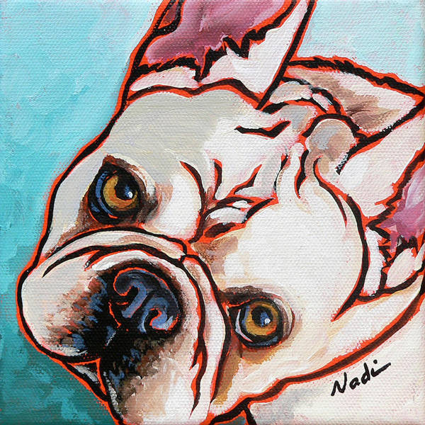 French Bulldog Poster featuring the painting French Bulldog by Nadi Spencer