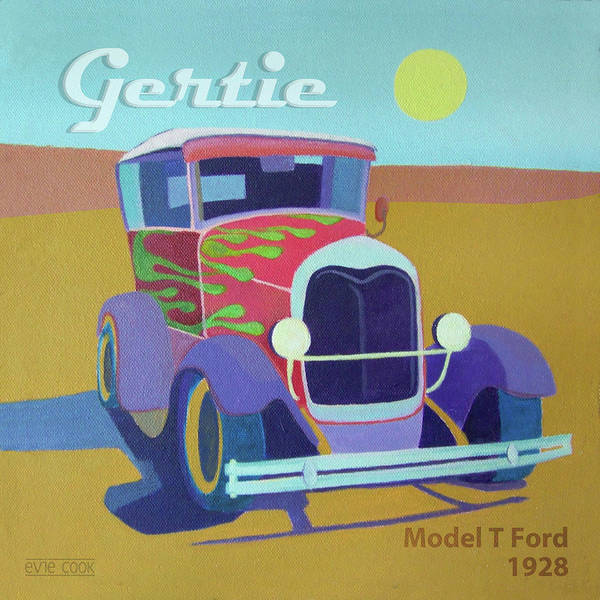 Ford Poster featuring the digital art Gertie Model T by Evie Cook
