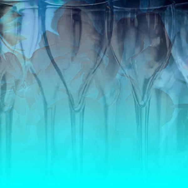 Glasses Poster featuring the digital art Glasses Floating by Allison Ashton