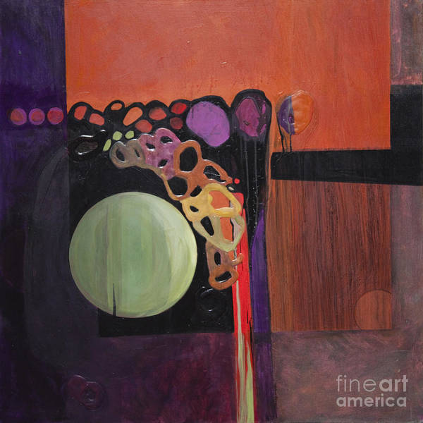 Abstract Poster featuring the painting Globular by Marlene Burns