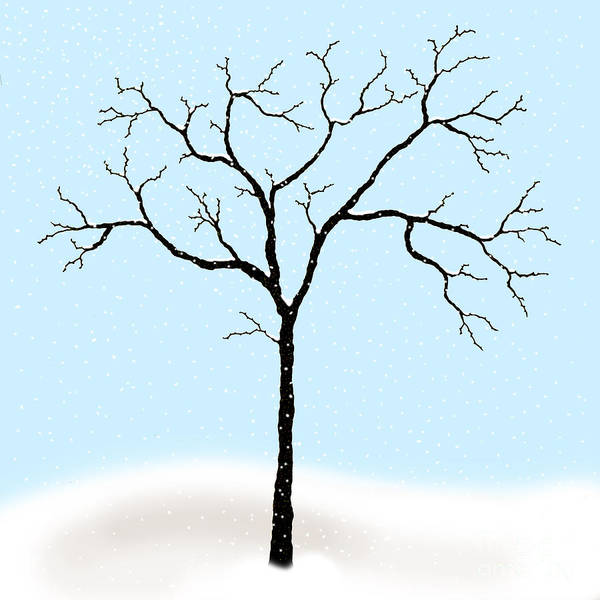 Gnarled Poster featuring the digital art Gnarled In Winter by Alycia Christine