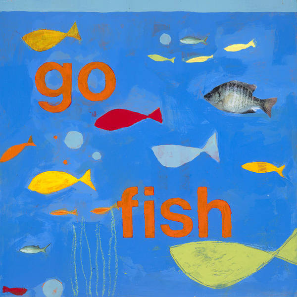 Fish Painting Poster featuring the painting Go Fish by Laurie Breen