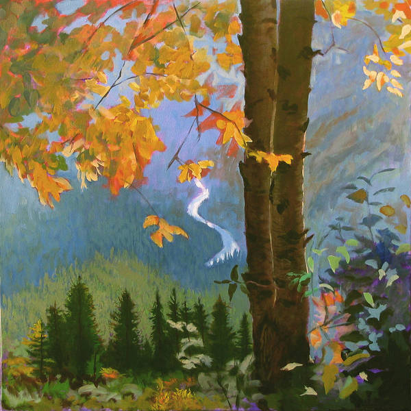 Glacier Poster featuring the painting Going To The Sun by Robert Bissett