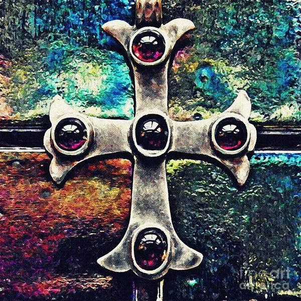 Cross Poster featuring the photograph Greek Cross 3 by Sarah Loft