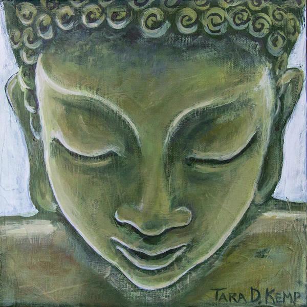 Tara Poster featuring the painting Jade Buddha by Tara D Kemp