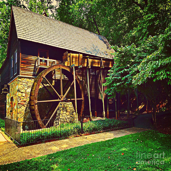 Gristmill Poster featuring the photograph Gristmill - Charlottesville Virginia by Judy Palkimas