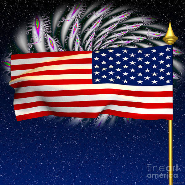 Us Poster featuring the photograph Happy Birthday America by Ganesh Barad