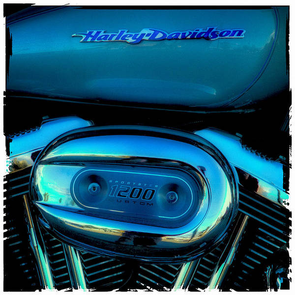 Classic Cycle Poster featuring the photograph Harley Sportster 1200 by David Patterson