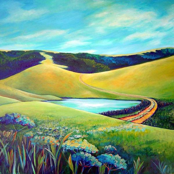 California Poster featuring the painting Hidden Pond by Stephanie Maclean