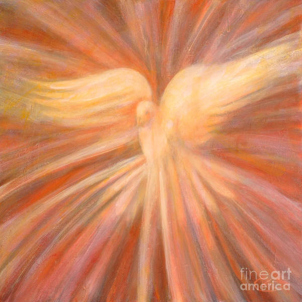 Holy Spirit Poster featuring the painting Holy Spirit Appearing As A Dove by Kip Decker