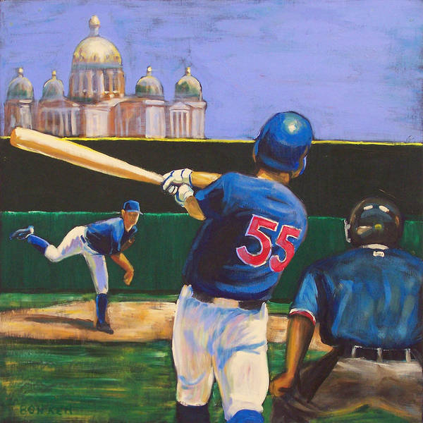 Iowa Poster featuring the painting Home Run by Buffalo Bonker