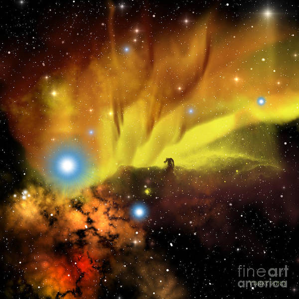 Horsehead Nebula Poster featuring the painting Horsehead Nebula by Corey Ford