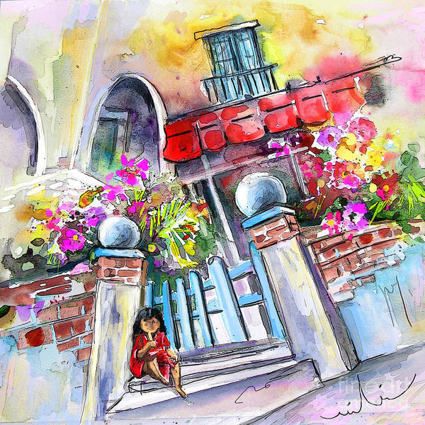 Garrucha Painting Poster featuring the painting House Entrance In Garrucha by Miki De Goodaboom