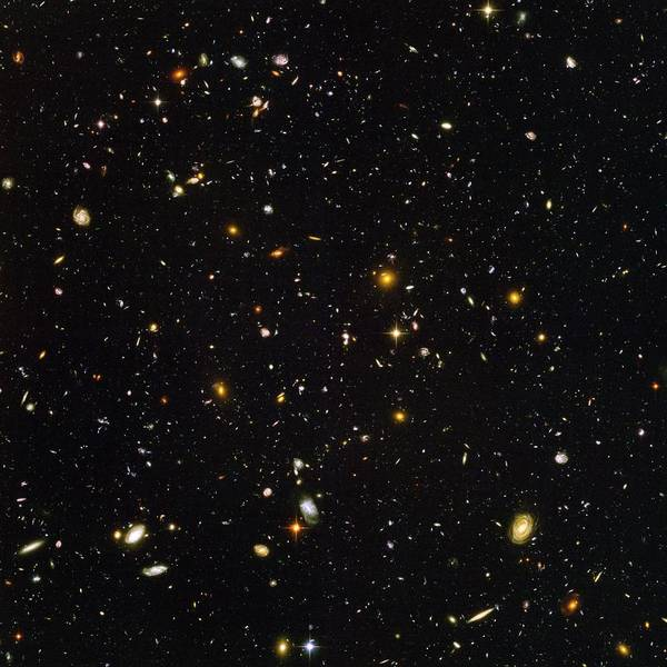 Astronomy Poster featuring the photograph Hubble Ultra Deep Field Galaxies by Nasaesastscis.beckwith, Hudf Team