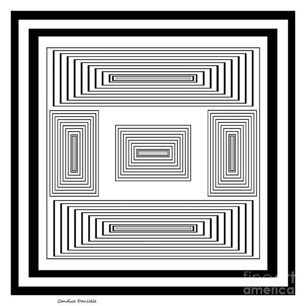 Abstract Poster featuring the digital art Infinite Maze 2 by Candice Danielle Hughes