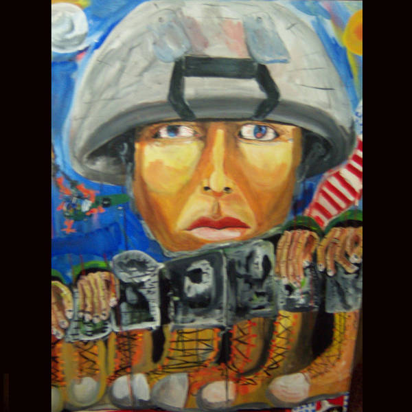 Soldier Poster featuring the painting Iraq Where The Young Became Old by Dominic Angarano