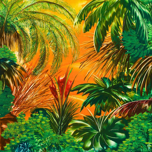 Jungle Poster featuring the painting jamaica III by Danita Cole