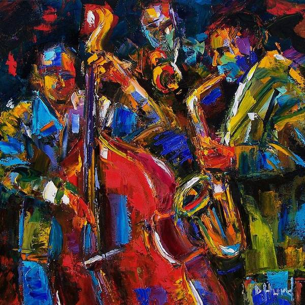 Jazz Poster featuring the painting Jazz by Debra Hurd