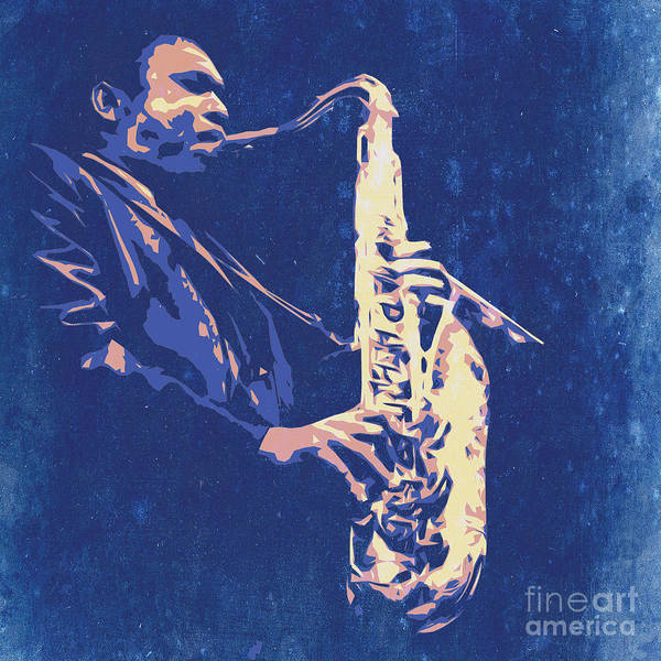 Sax Poster featuring the painting Jazz On S Stage by Drawspots Illustrations