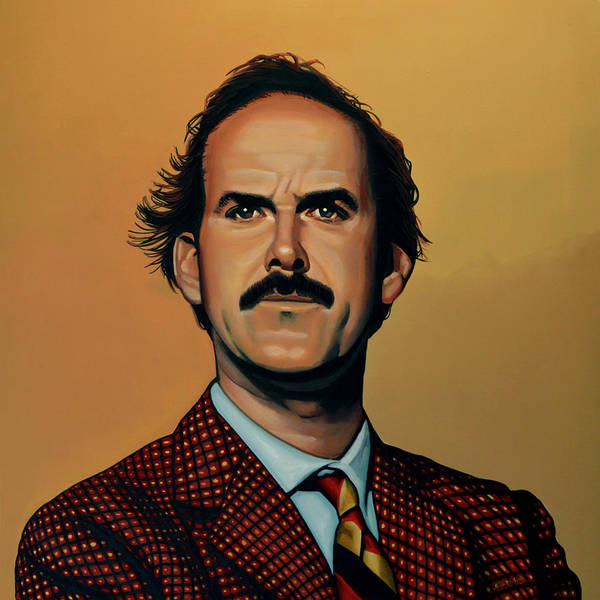 John Cleese Poster featuring the painting John Cleese by Paul Meijering