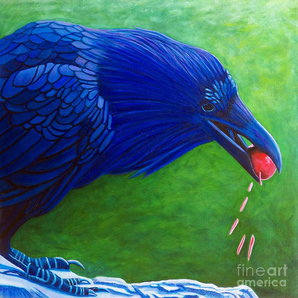 Raven Poster featuring the painting Joie De Vivre by Brian Commerford