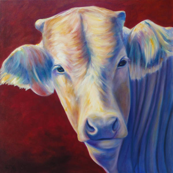 Bull Poster featuring the painting Jorge by Shannon Grissom