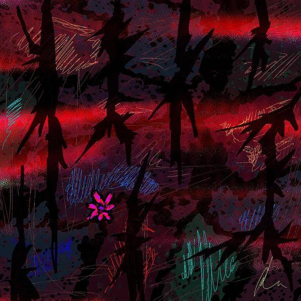 Abstract Poster featuring the digital art Joy In Tears by Rachel Christine Nowicki